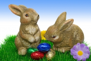 """Easter Bunnies On Grass"" by Grant Cochrane"