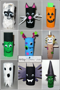 Toilet-Paper-Tube-Halloween-Character-Crafts-cardboard-tube-crafts