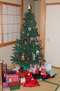 Our Christmas Tree here in Japan with ornaments from around the world