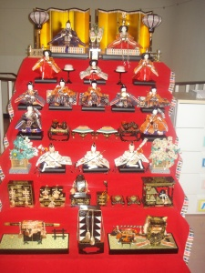 These dolls are displayed for Hina Matsuri.